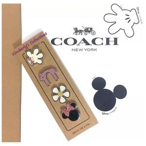 Coach Accessories - COACH Disney Minnie Ltd Enamel Bag Charm 4 Pin Set